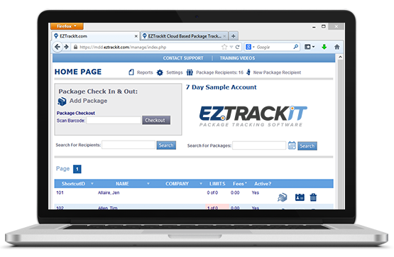 EZTrackIt Screenshot